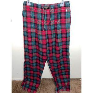 Men's plaid pajama pants.